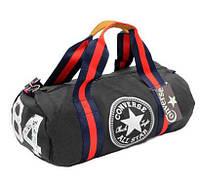 Спортивная сумка-бочонок CONVERSE STAR черная 4974BK