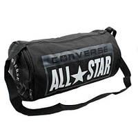 Спортивная сумка-бочонок CONVERSE с отделом для обуви 4973-BK черная