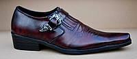 Туфли казаки мужские бордо, натуральная кожа. Patriot 17V066.