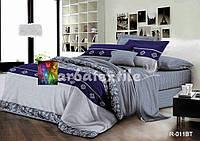 """Комплект постельного белья из ранфорса ТМ """"Ловец снов"""", Элегантный синий"""