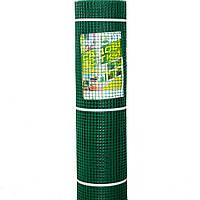 """Сетка садовая пластиковая """"забор"""" 10*10/1*20 темно-зеленый"""