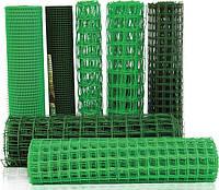 """Сетка садовая пластиковая """"забор"""" 50*50/1*20 темно-зеленый"""