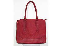 Модная женская сумка красного цвета + клатч в подарок