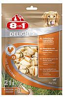 Кости 8 in 1  Delights Value Bag 21шт- жевательные с мясом для собак