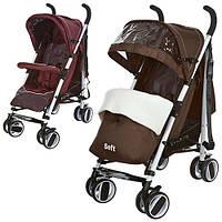 Детская коляска трость SOFT M 3432-2 коричневая***