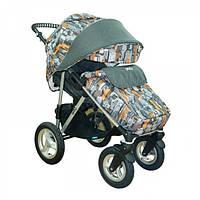 Детская Прогулочная коляска Geoby Glasgow - с надувными колесами, футкавер, европолог, москитка, дождевик
