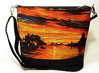 Женская стеганная сумочка Закат 2