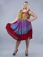 Сарафан-разлетайка зеленый, фиолетовый, голубой, красный, на 48-60 размеры