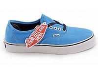 Мужские кеды Vans Authentic Light Blue голубые топ реплика