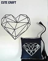 Подушка с декоративной наволочкой из джинсовой ткани handmade двухсторонняя