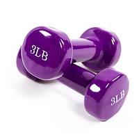 Гантели для фитнеса 3LB (по 1,4 кг)