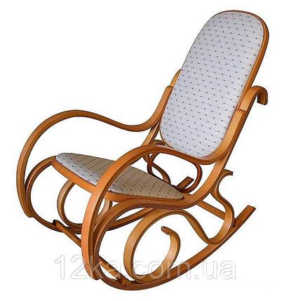 Кресло качалка светлое ткань точки, фото 2