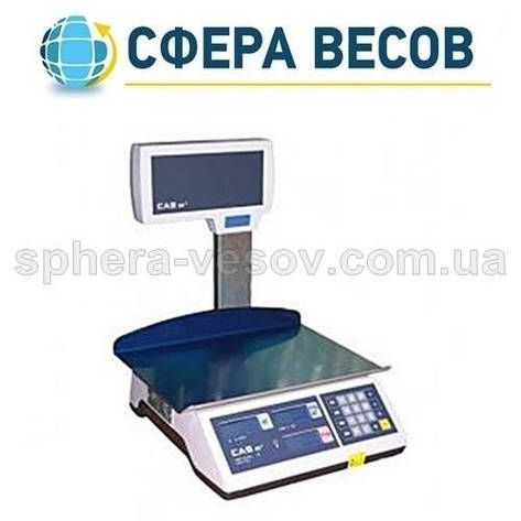 Весы торговые CAS-ER-Plus EU LT (6 кг) , фото 2