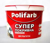 Polifarb АКРИФАРБА 7кг – Акриловая водно-дисперсионная краска для стен и потолков