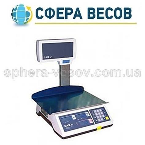 Весы торговые CAS-ER-Plus EU LT (15 кг) , фото 2