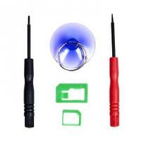 Набор инструментов BAKU BK7296 для iPhone (Отвертки +1.3 и звезда 0.8. Nano-sim адаптер. присоска)