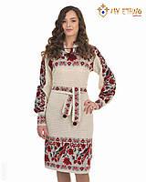 Вязаное платье Птичка с кокеткой, фото 1