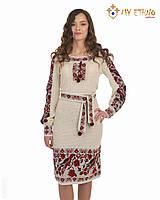 Вязаное платье Птичка с вставкой, фото 1