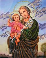 """Схема для частичной вышивки бисером """"Св. Иосиф с Иисусом"""""""