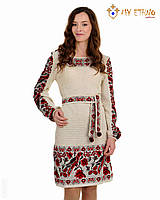 Вязаное платье Птичка рамочка, фото 1