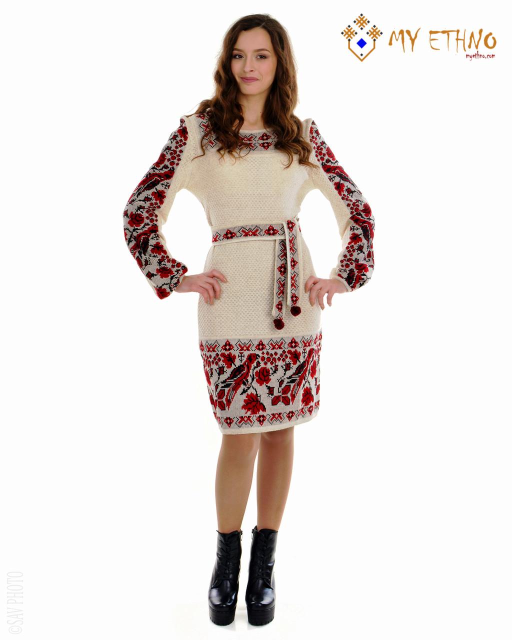 Вязаное платье Птичка рамочка