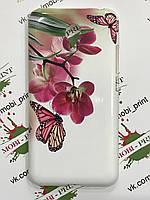Чехол для Meizu m2 note (Бабочка с орхидеями)