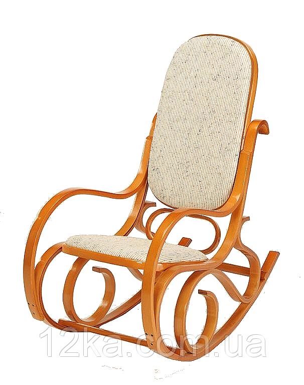 Кресло качалка PBT Group ольха ткань бежевая