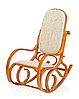 Кресло качалка ольха ткань бежевая