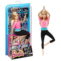 Барби йога 22 шарнира Фитнес розовый топ Barbie Made to Move Barbie Pink Top двигайся как я