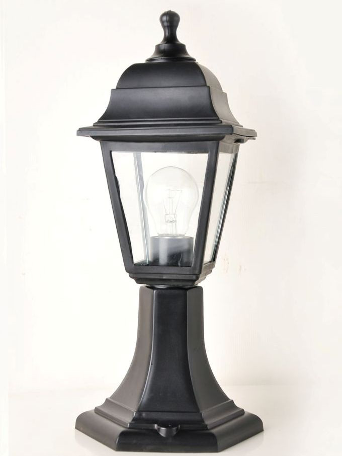 Светильник парковый (столбик) h=43см НГ04 пр.ст. черный