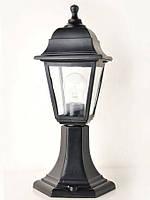 Светильник НТУ 04 Алюминиевый НГ04 (столбик) h=43cм прозр.стекло черный