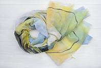 Легкий шарф Нежность из вискозы и хлопка, желтый