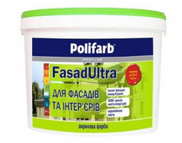 Фасадная краска Polifarb Fasad Ultra 1.4кг