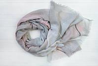 Легкий шарф Нежность из вискозы и хлопка, серый