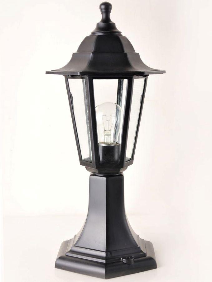 Светильник НТУ 06 Алюминиевый НГ06 (столбик)h=43cм прозр.стекло черный