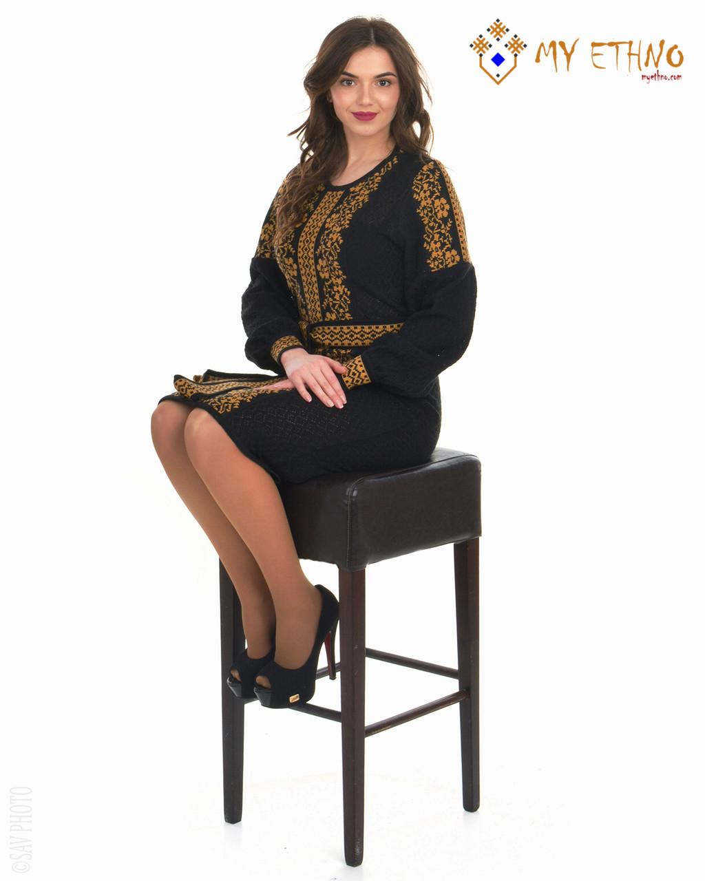 Вязаное платье Роксолана коричневая (х/б)