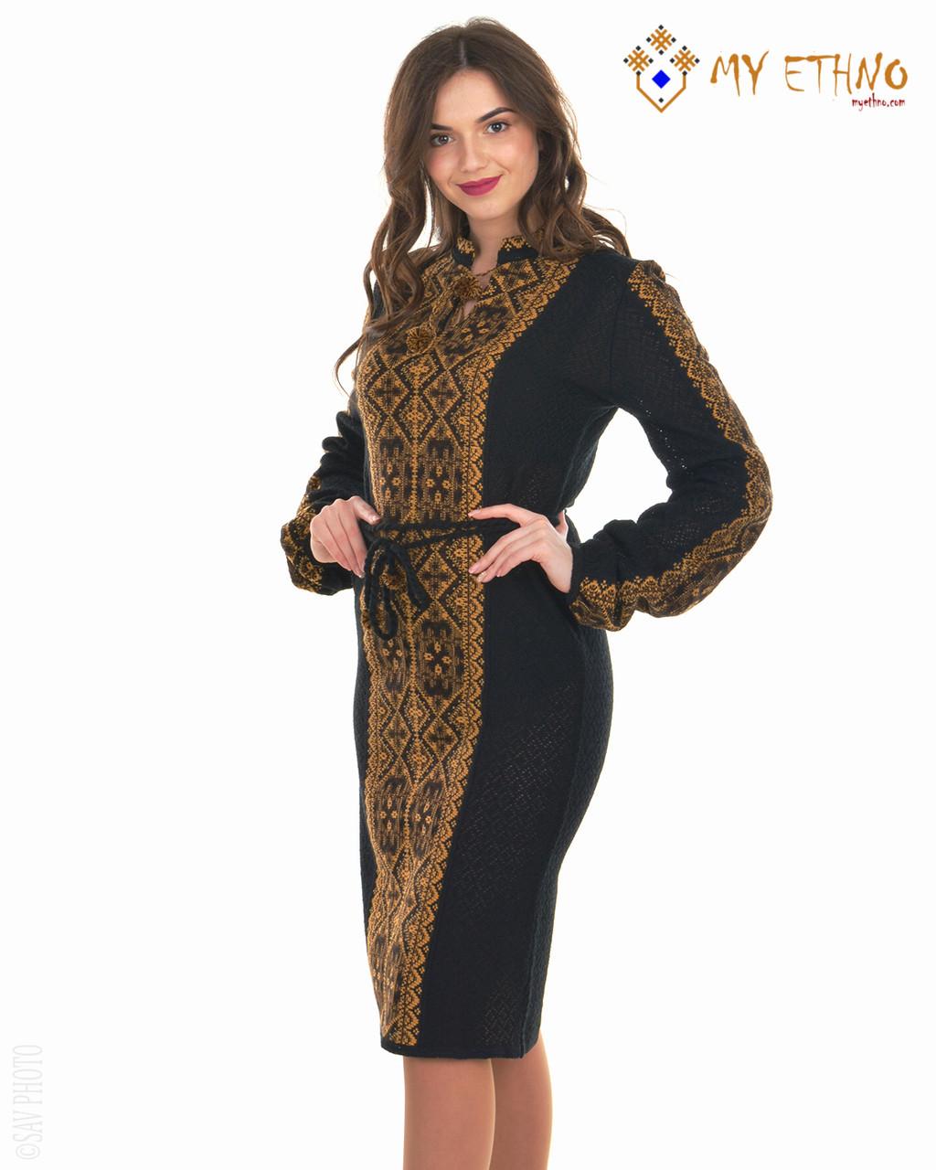 Вязаное платье Влада коричневая (черное х/б)