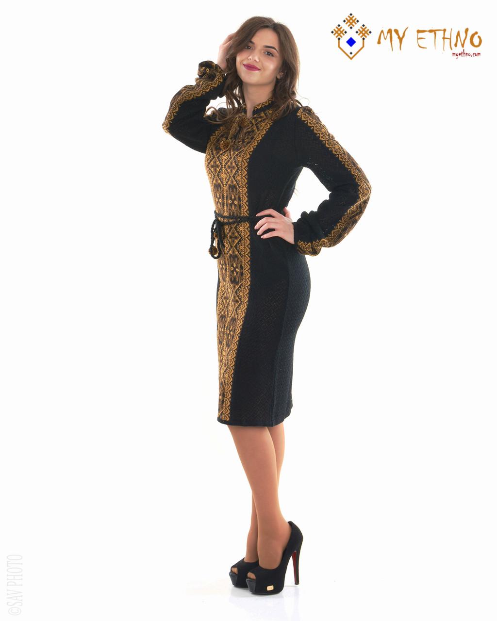 Вязаное платье Влада коричневая (х/б)