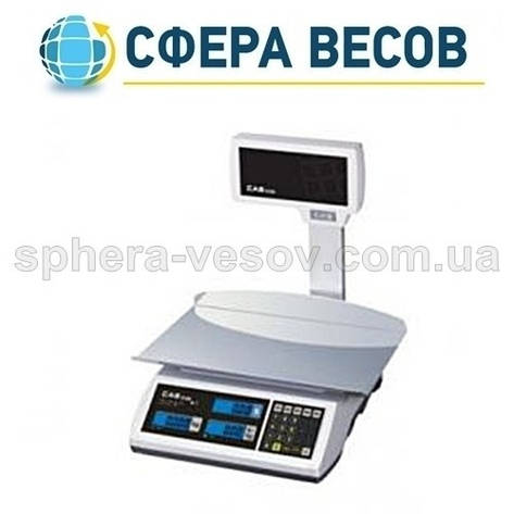 Весы торговые CAS-ER-JR-CBU LT (6 кг) , фото 2