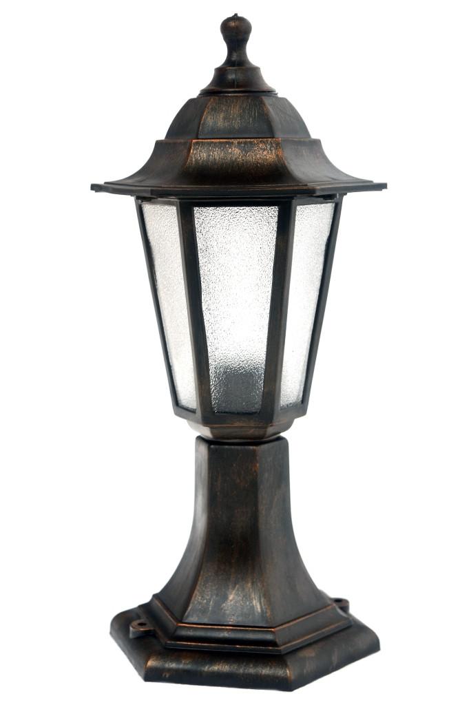 Светильник НТУ 06 Алюминиевый НГ06 (столбик)h=43cм матовое стекло бронза