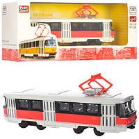 Игрушка Трамвай металлический коллекционный (6411ABCD)