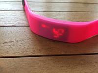 Спортивные силиконовые Led часы hot pink