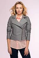 Куртка-косуха из искусственной кожи Looker серый