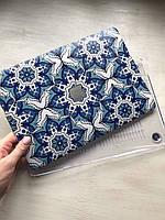 """Дизайнерский чехол с синими узорами для MacBook Pro 13"""""""