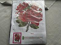 """Набор для вышивания бисером """"Красные розы"""" 27,5*20,5см №8816-В"""