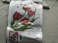 """Набор для вышивания бисером """"Тюльпаны"""" 27.5 х 20.5 см №8801-В, фото 1"""