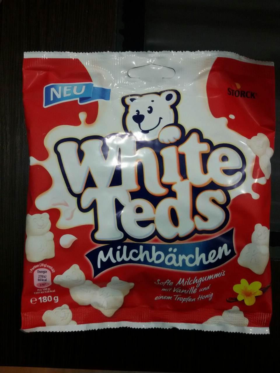 Жевательные конфеты  White Teds (вайт тедс ваниль) 180 г
