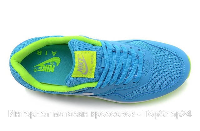 "Женские кроссовки Nike Air Max 87 ""Lime/Blue/White"""