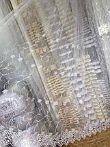 Тюль фатин мягкий Турция с нежным орнаментом, фото 3