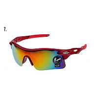 Очки для спорта в красной оправе Oulaiou